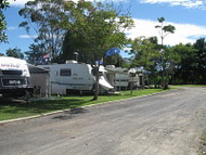 Caravan on site in Murwillumbah